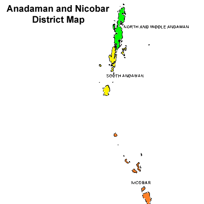 Andaman and Nicobar district Map