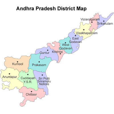 List of Districts of Andhra Pradesh Map Andhra Pradesh on