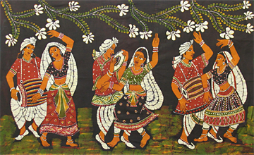 Deer Indian Folk Painting