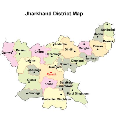 Jharkhand district Map
