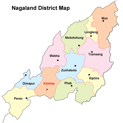 Nagaland district Map