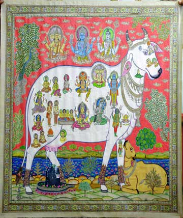 Cow Pattachitra Painting