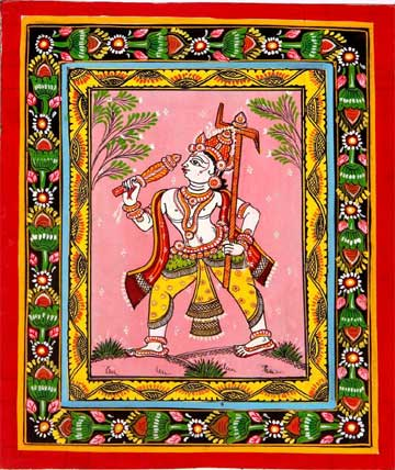 God Pattachitra painting