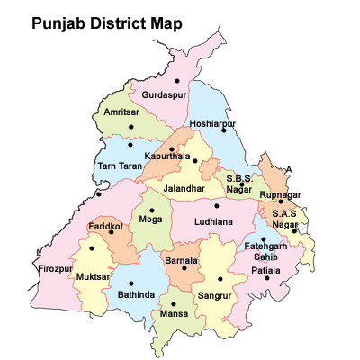 punjab map with districts and cities List Of Districts Of Punjab punjab map with districts and cities
