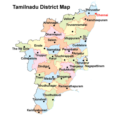 Tamilnadu district Map