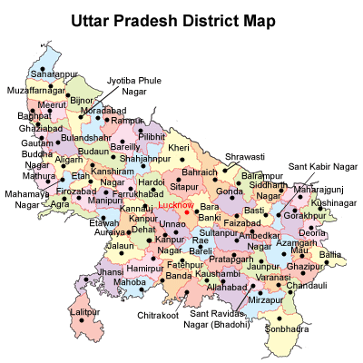 List of Districts of Uttar Pradesh