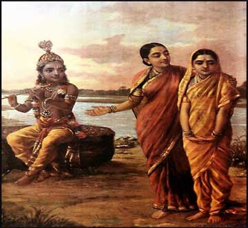 Krishna Ravi varma paintings