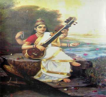 Saraswathi Ravi varma paintings
