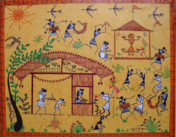 Warli paintings paintings of maharashtra village warli painting thecheapjerseys Image collections
